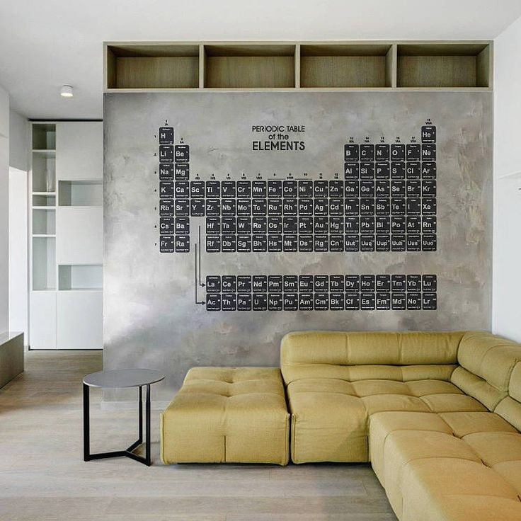 periodic table wall sticker transforming the office space pinterest grey walls grey and. Black Bedroom Furniture Sets. Home Design Ideas
