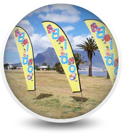 Banner stands are being used more and more for promotions to increase product awareness. They are a great way to make an outdoor promotional presence. Curvehead Flags/Dolphin Flags are ideal attention grabbers. With a variety of sizes this is truly a fantastic and eye catching option for any indoor & outdoor event