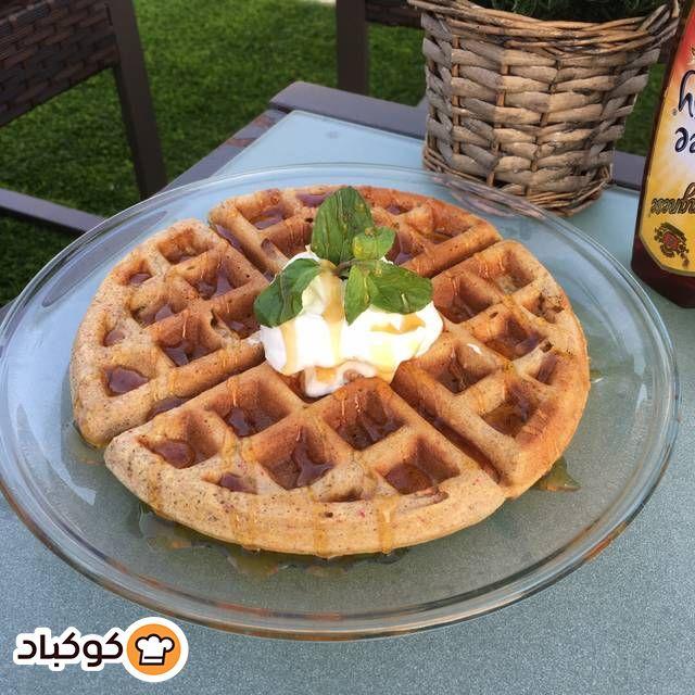وافل مالح بالزعتر واللبنة بالصور من سوسو Recipe Food Waffles Breakfast