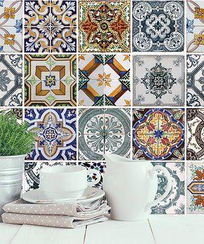 Mediterranean Tiles Wall Decal Set