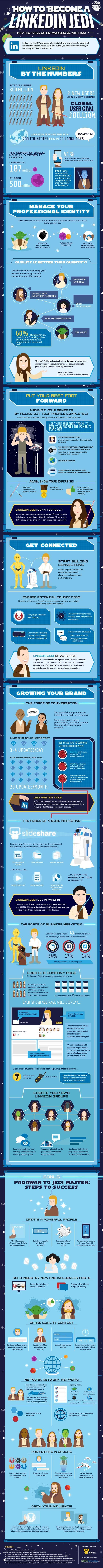 How to become a #Linkedin #Jedi [#infographic] #SocialMedia