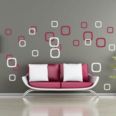 Quadrati Bicolor | Stickers Murali Adesivi Murali