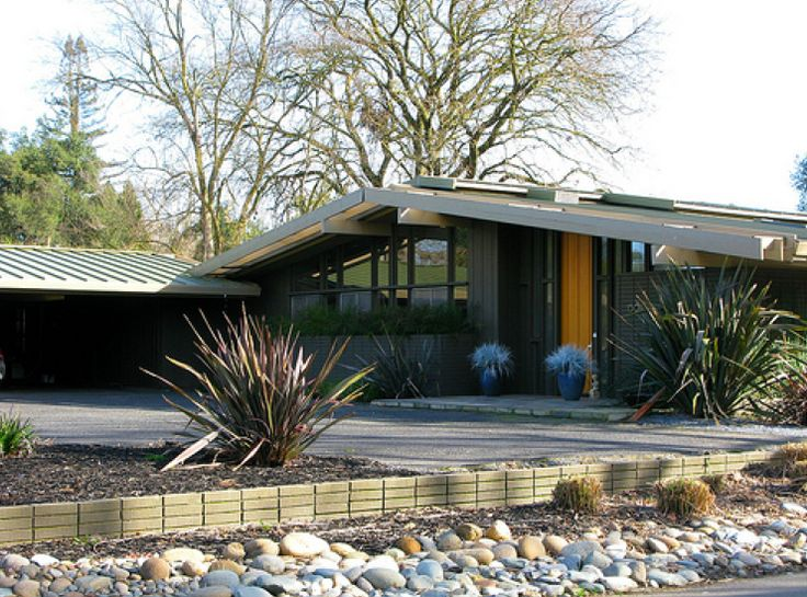97 best images about exterior home ideas on pinterest for Mid century modern exterior