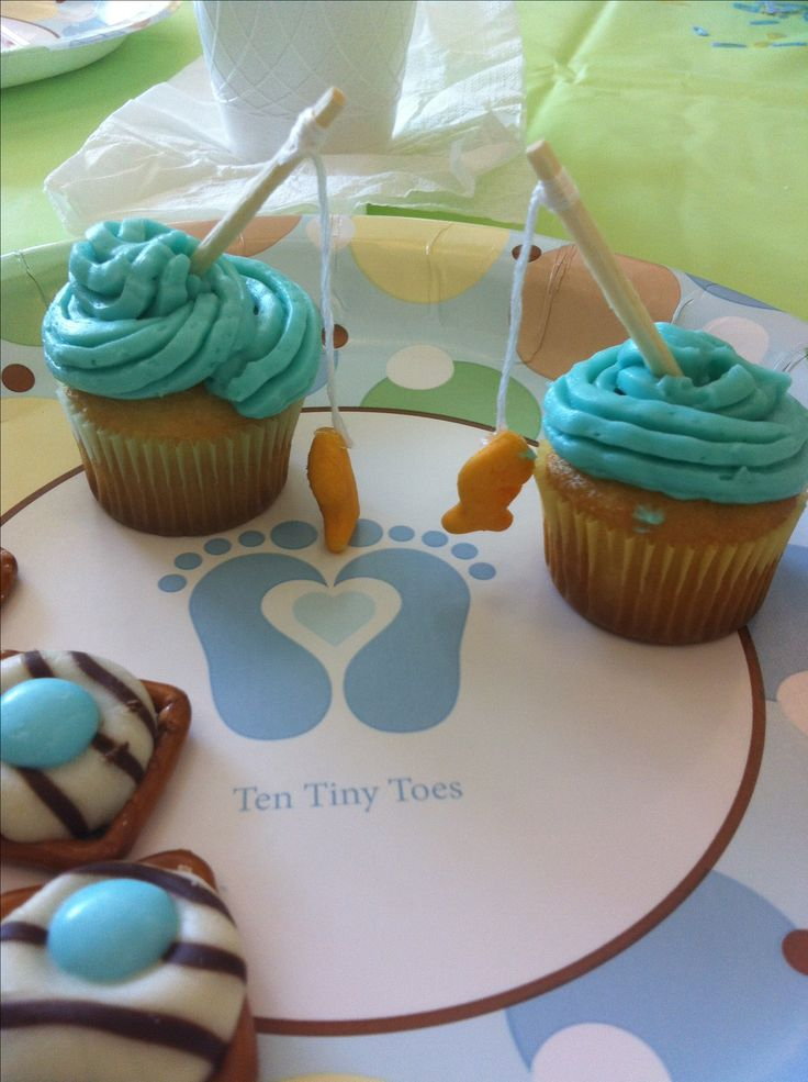 11 best boy baby shower images on pinterest baby bird for Fishing themed baby shower