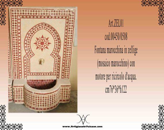 FONTANA (Arredamento) prodotti hammam, Fontana in zelige(mo