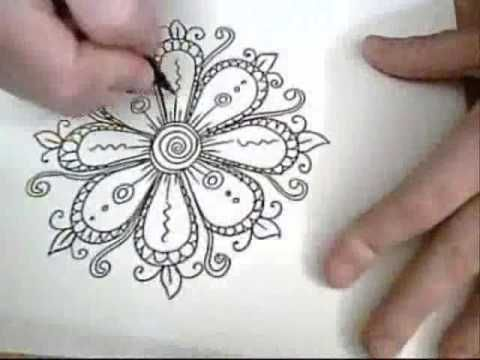 doodle flowers..This is so much fun to watch!