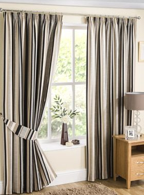 Henley Stripe Ready Made Curtains   Pencil Pleat Curtains   Curtains   linen4less.co.uk