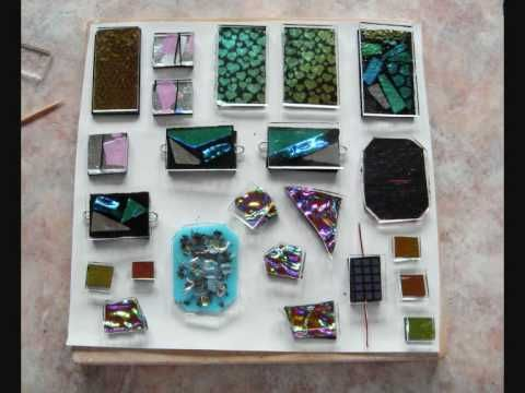 How to make a dichroic glass cabochon - YouTube