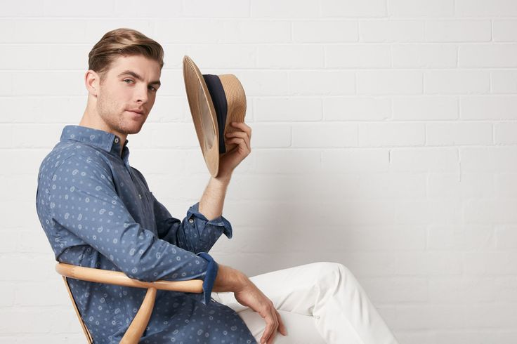 Prints are still going strong! Jump on board with this relaxed paisley print option. Made from a light weight and casual fabric, wear with our essential chino for a contemporary summer look.