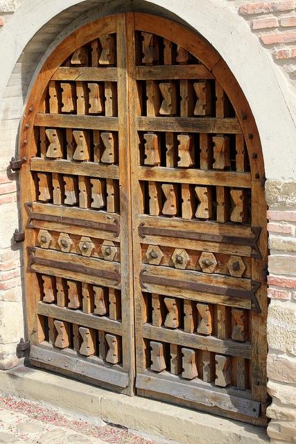 Door at Mănăstirea Suceviţa - Suceviţa, Jud. Suceava, Romania