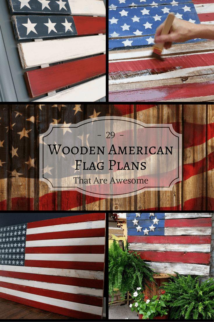 wooden american flag cross diy