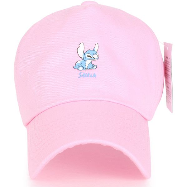 Disney Lilo Stitch Cute Logo Cotton Adjustable Curved Hat Baseball Cap... ($16) ❤ liked on Polyvore featuring accessories, hats, disney hats, adjustable baseball cap, adjustable baseball hats, logo baseball hats and logo baseball caps