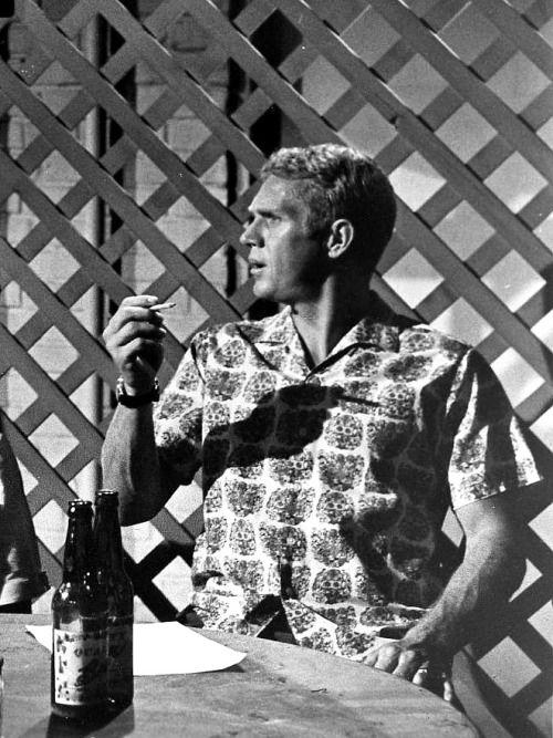 """ Steve McQueen in Soldier in the Rain, 1963. """