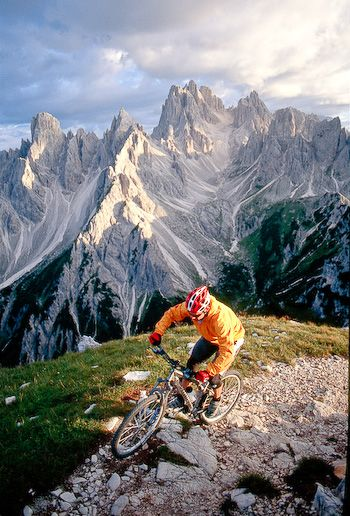 ♂ adventure Mountain Biking in the Most Beautiful Places on Earth: Italy's Dolomite Mountains