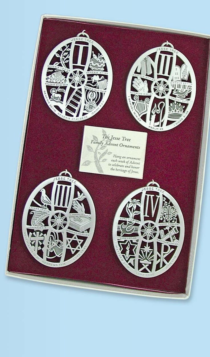 Jesse Tree Ornaments Advent Catholic Christmas. Jesse tree symbols are perfect for Chrismon trees!