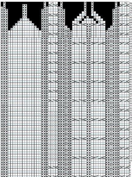 35121 Шапка и варежки Белоснежные узоры