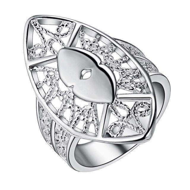 Arabesquitic овальные блестящие Горячей посеребренные Кольцо, ювелирные изделия Кольца,/JOUMXFBE…