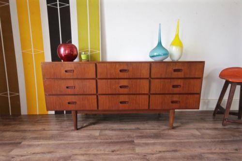 Retro-Parker-Sideboard-Buffet-Teak-Vintage-Chest-of-Drawers-TV-Cabinet