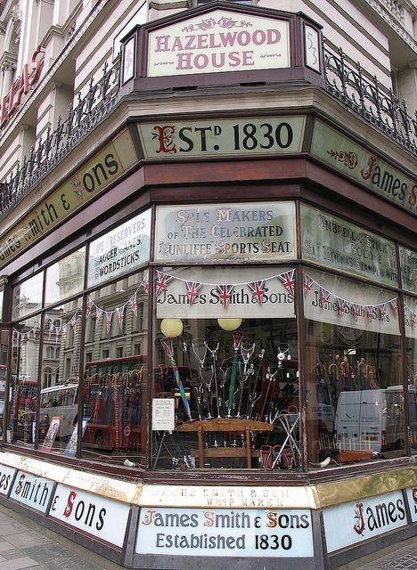 Oldest Umbrella Shop -  New Oxford Street, London by Patrick P Rooney