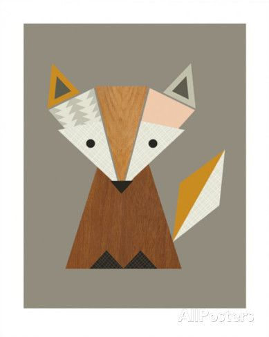Geometric Fox Posters by Little Design Haus at AllPosters.com