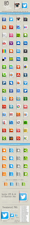 Colección de iconos de redes sociales en vector, png o psd para que te descargues gratis
