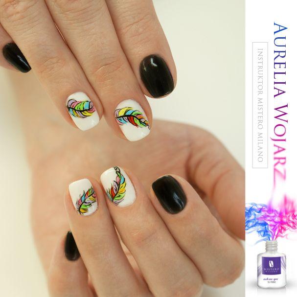 Black&white nails manicure!  Mistero Milano