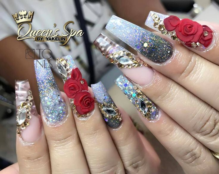 Amazing Nail Art Made👑💖🎀 Using Tones Products