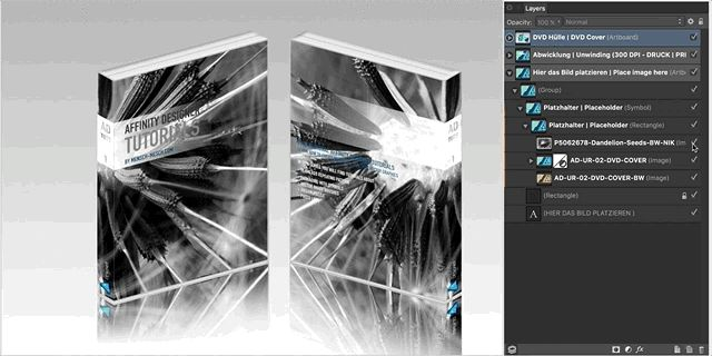 Simply changing the background of the Affinity Designer DVD cover mockup.