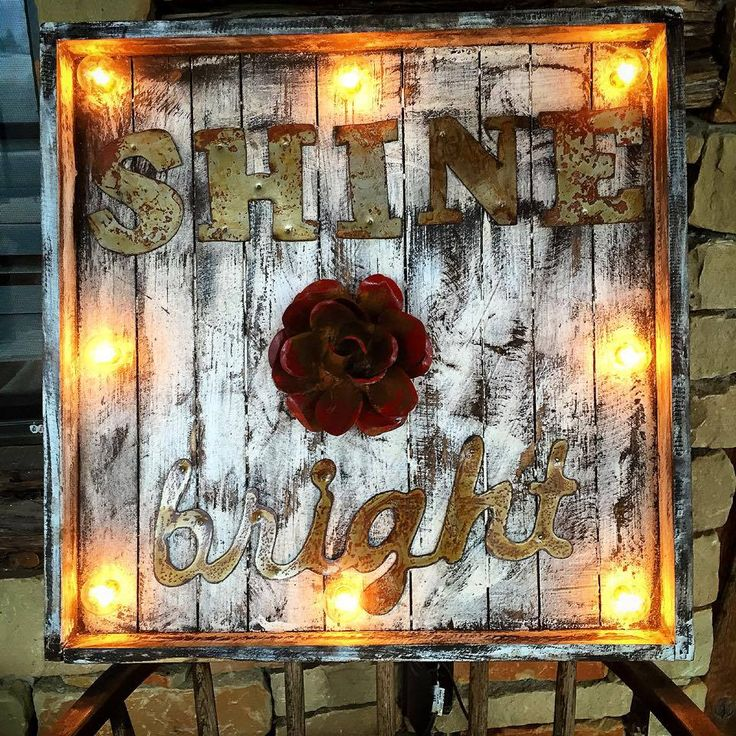 Shine Bright Wood Marquee   Sofiau0027s Rustic Furniture #shine #bright #wood  #marquee