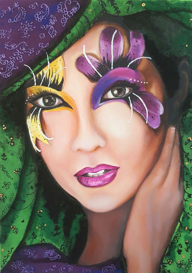 #Otantik / #Authentic by Bahar Ulus Tuval üzerine #YağlıBoya / #Oiloncanvas 50cm x 70cm 1.750₺ / 500$  #gallerymak #oilpainting #sergi #yagliboya #portrait #kadın #tasarım #sanat #plastiksanatlar #artforsale #ressam #resim #tablo #contemporaryart #masterpiece #artoftheday #paintings #finearts #contemporary #portre #modernart #cagdassanat #modernsanat #artgallery #artoftheday #ig_sanat