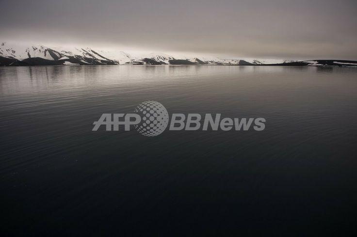 南極にあるデセプション島(Deception Island、2008年10月27日撮影。資料写真)。(c)AFP/MARTIN BUREAU ▼23Nov2009AFP|南極の氷の減少、規模・速さ予測を上回る 米研究 http://www.afpbb.com/articles/-/2666736 #Deception_Island