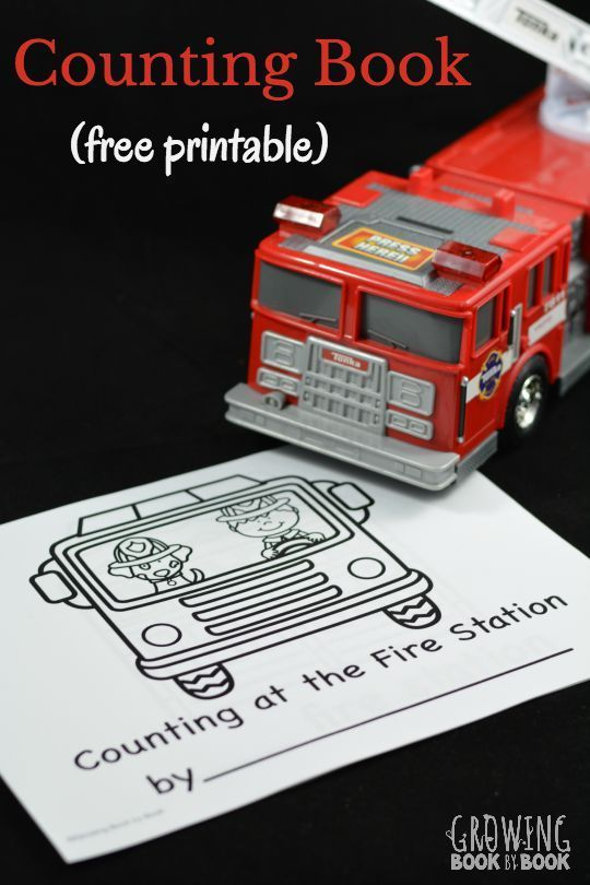 A free printable book to work on counting and writing numbers with a fire…