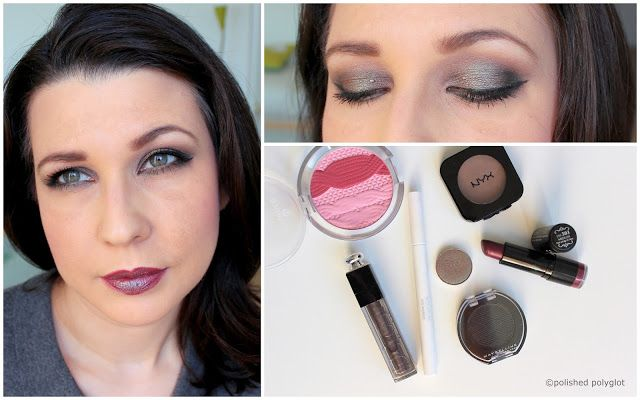 """Makeup Look in gunmetal grey and duochromed green [Monday Shadow Challenge]   (Défilez vers lebaspour le français /Visita aquí mi artículo en español)  Hellosweeties! Bonjour! How are you today?  Can you believe November is almost over? Where did this year go?! It seemed like yesterday I was writing about my new years (lack of) resolutions for 2016 and nowI'm already getting ready for 2017!! Well enough of small talk let's get into makeup. Today my makeup is totally """"off topic"""" why? because…"""