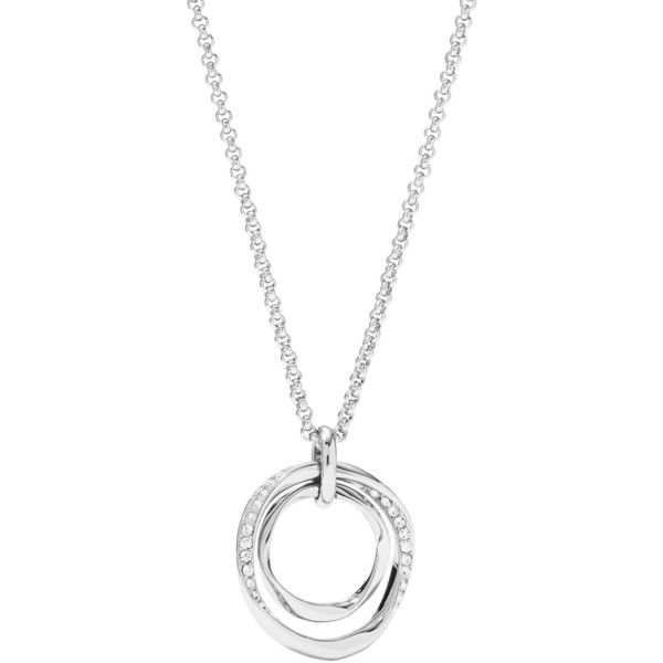 Fossil Necklace ($50) ❤ liked on Polyvore featuring jewelry, necklaces, silver, chain jewelry, fossil jewelry, chain necklaces, fossil jewellery and fossil necklace