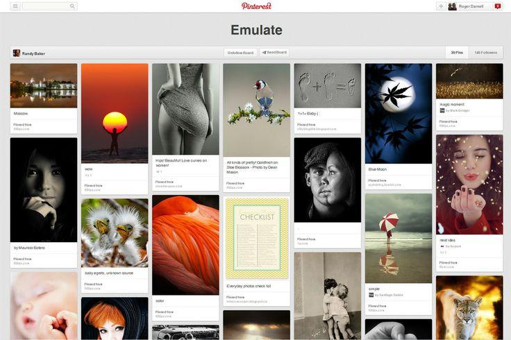 ' Emulate' http://pinterest.com/digitalbaker/emulate/  Pinterest Board from producer, director and  videographer Randy Baker.