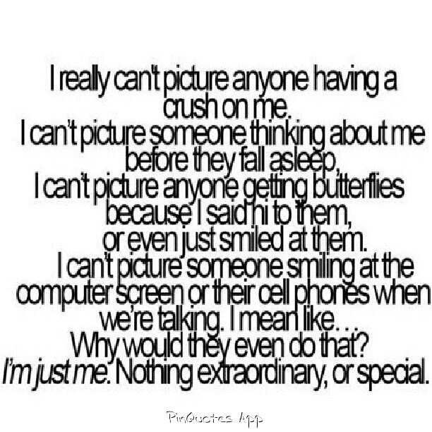 """lolol @ the fact I have no friends, nor anyone interested in me enough to """"smile when i'm talking to them"""" lololol"""