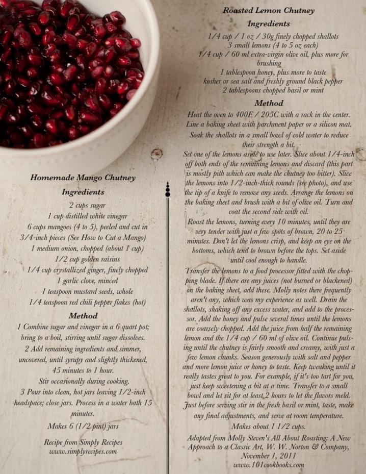 Roasted Lemon Chutney! | Recipes | Pinterest