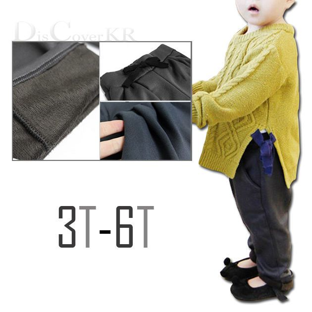 New Kids Winter Warm Pants Thick Gray Fur Leggings Clothes 3-6T #DCKR #Bottoms #CasualFashion #Leggings
