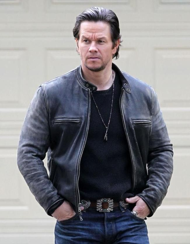 Distressed Mark Wahlberg Daddys Home Leather Jacket                                                                                                                                                                                 More
