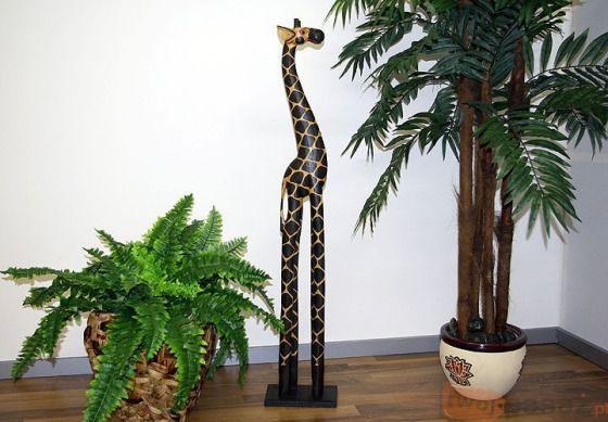Żyrafa indonezyjska 100cm ciemna, ozdoby, dekoracje