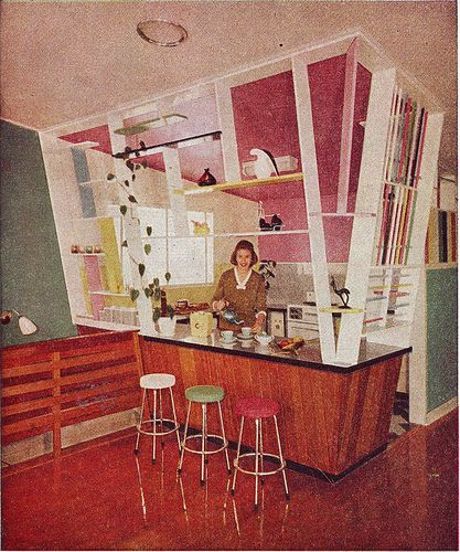 The vintage kitchen every woman wants.Australian House and Garden, December 1960.