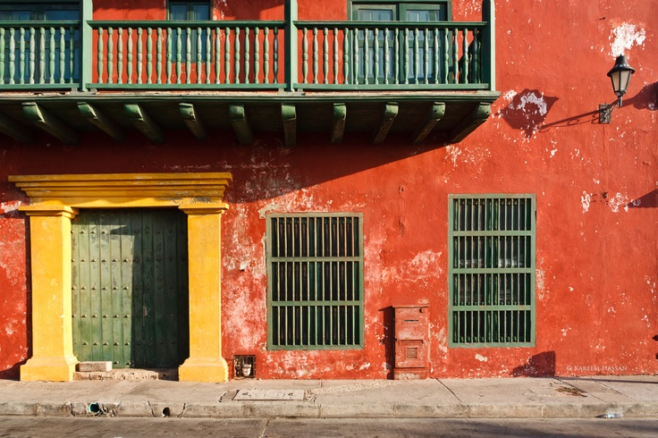 This is a photo of the beautiful city of Cartagena in Colombia