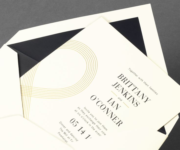 Vera Wang Oyster Wedding Invitation With An Oversized Ampersand In  Gold.Available At Honey