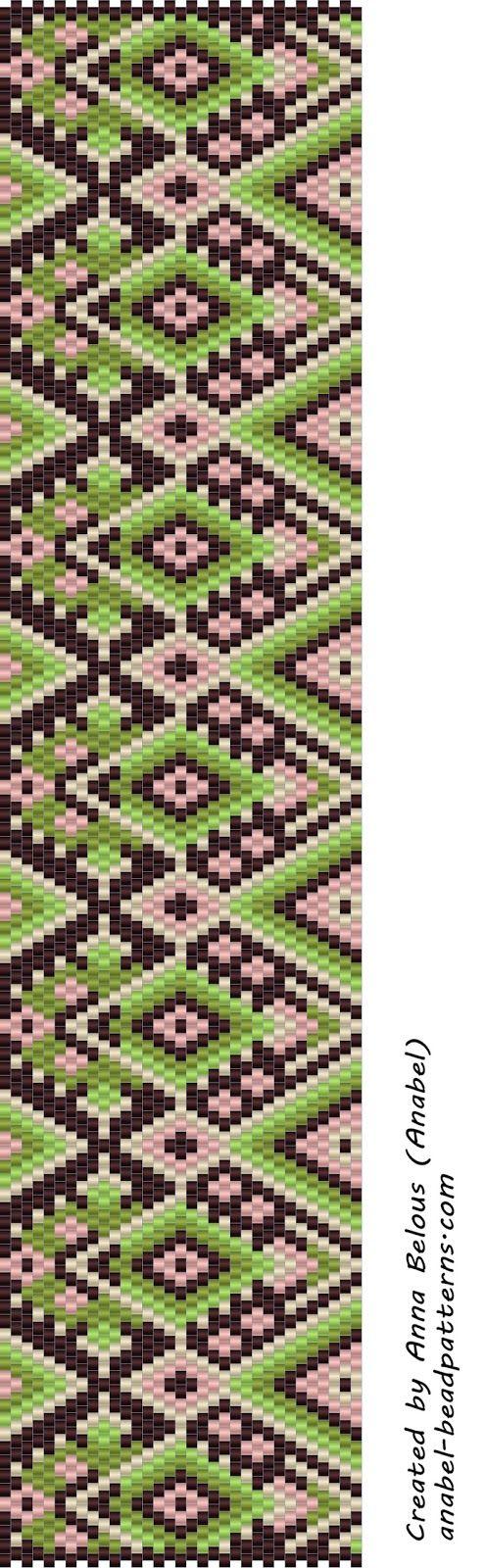 схема иконы для мозаичного плетения из бисера