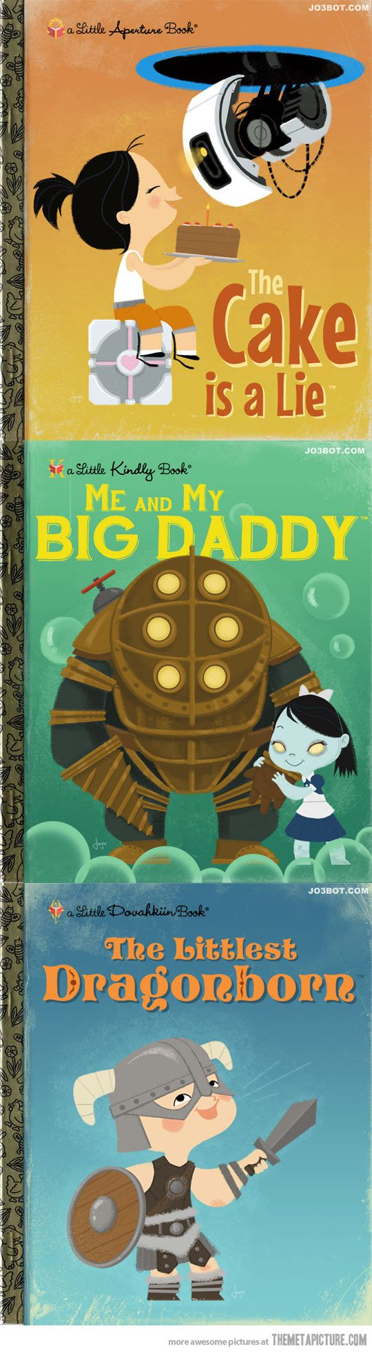 Books for little gamers…[video games in the style of little golden books....<3 it. -jl-]