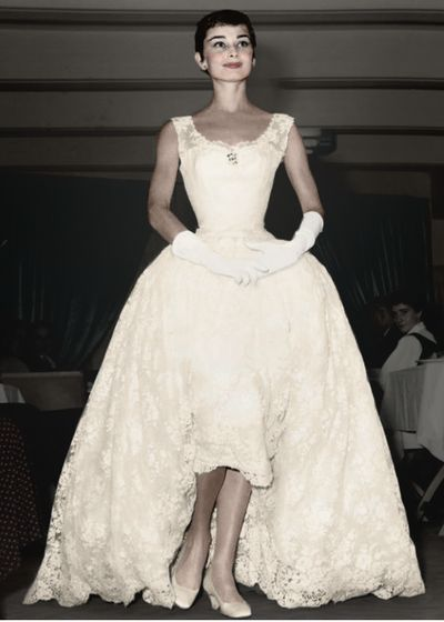 Best 25 audrey hepburn wedding ideas on pinterest for Audrey hepburn inspired wedding dress
