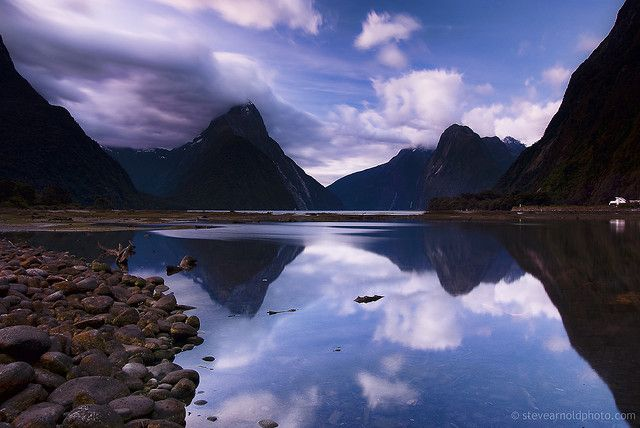 """Milford Track, New Zealand. Going to look for a """"Gandalf""""? What ever THAT is.... It must stand for """"Beautiful fjord""""..."""