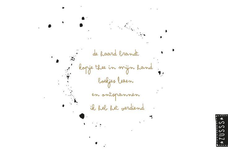 Zusss l De haard brandt, koopje thee in mijn hand, boekjes lezen en ontspannen, ik heb het verdiend l http://www.zusss.nl/product/zusss-familie-planner/