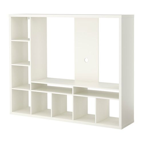 LAPPLAND TV storage unit IKEA The shelves can be placed to the left or right. Choose the placement that suits you best.