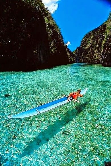 Crystal clear lake, Bushuango, the Philippines